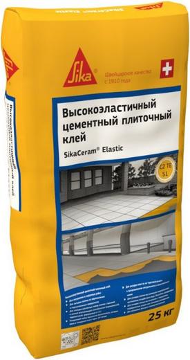 Sika Sikaceram Elastic высокоэластичный цементный плиточный клей (25 кг)