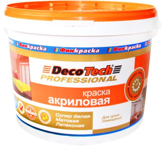 Decotech Professional краска акриловая латексная (10 л) супербелая