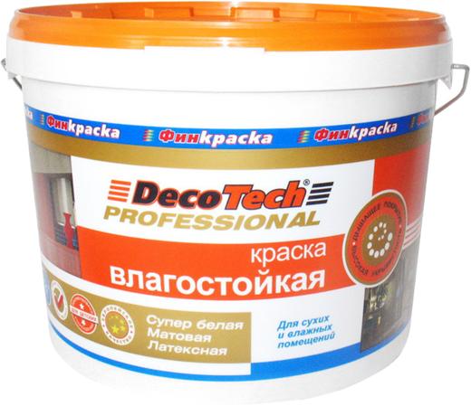 Decotech Professional краска влагостойкая латексная (10 л) супербелая