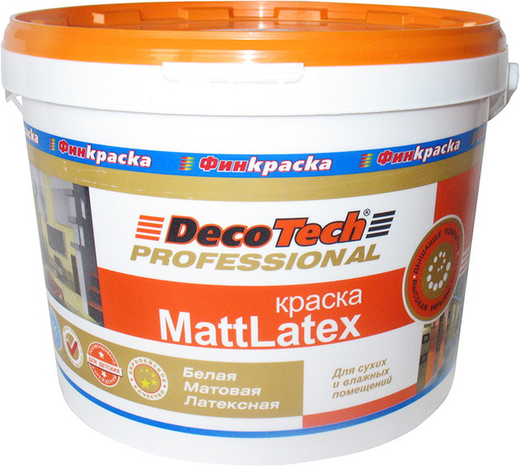 Decotech Professional Mattlatex краска акрилатная (10 л) белая