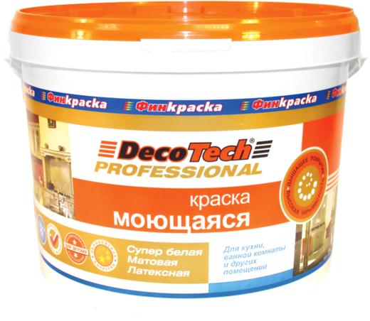 Decotech Professional краска моющаяся латексная (10 л) белая (база A)