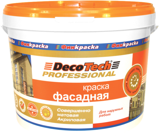 Decotech Professional краска фасадная акриловая (10 л) белая