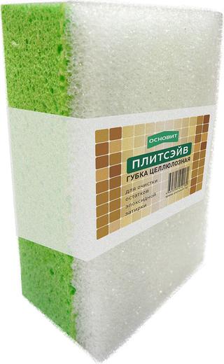 Губка целлюлозная для очистки остатков эпоксидной затирки Основит Плитсэйв (200 мм*150 мм*100 мм)