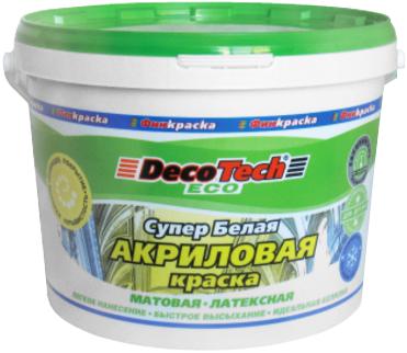Decotech Eco краска акриловая латексная (14 кг) супербелая