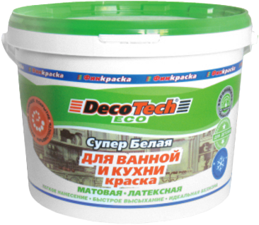 Decotech Eco краска для ванной и кухни латексная