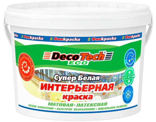 Decotech Eco краска интерьерная латексная (14 кг) супербелая
