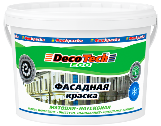 Decotech Eco краска фасадная латексная (14 кг) белая