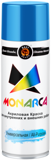 East Brand Monarca акриловая краска аэрозольная универсальная (520 мл) черная матовая