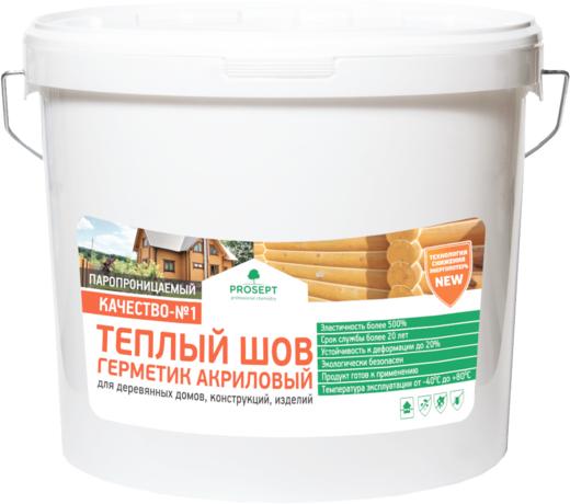 Просепт Теплый Шов герметик акриловый паропроницаемый для деревянных домов, конструкций, изделий