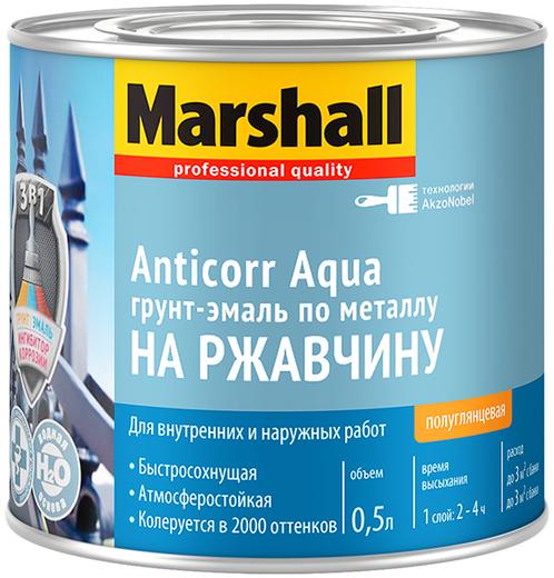 Marshall Anticorr Aqua грунт-эмаль по металлу на ржавчину (500 мл) белая