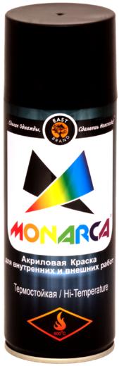 Monarca акриловая краска аэрозольная термостойкая (520 мл) черная