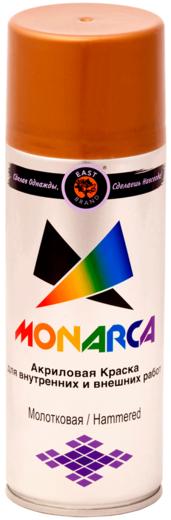 Monarca акриловая краска для внутренних и внешних работ аэрозольная молотковая