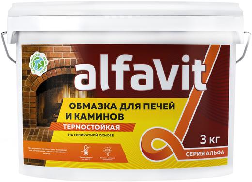 Альфа краска для печей и каминов силикатно-акриловая термостойкая (3 кг) белая