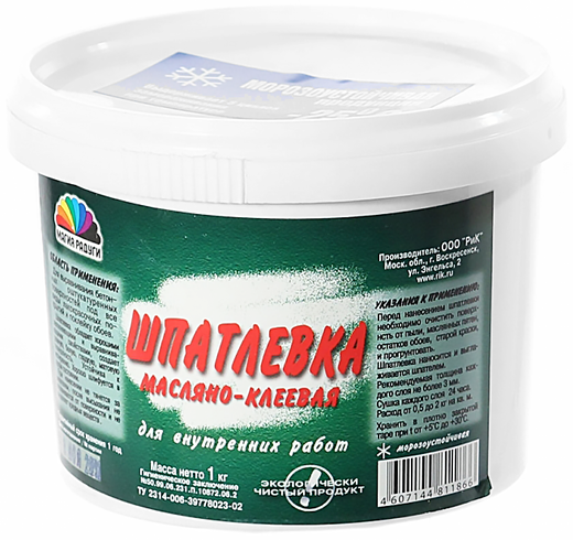 Магия Радуги шпатлевка масляно-клеевая для внутренних работ (3.5 кг)