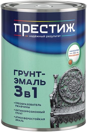 Престиж Stop Ржавчине грунт-эмаль 3 в 1 по ржавчине универсальная (1.9 л) серая
