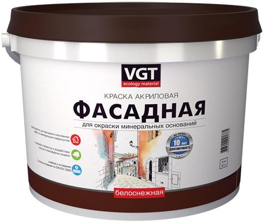 ВГТ ВД-АК-1180 краска акриловая фасадная (15 кг) белоснежная