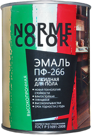 Norme Color ПФ-266 эмаль алкидная для пола (2.7 л) золотисто-коричневая