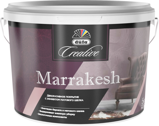 Dufa Creative Marrakesh декоративное покрытие с эффектом матового шелка (5 кг)