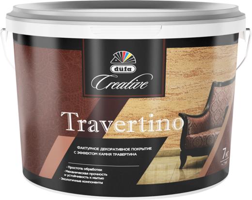 Dufa Creative Travertino фактурное декоративное покрытие с эффектом камня травертина