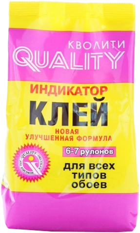 Quality индикатор клей для всех видов обоев