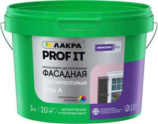 Лакра Prof It краска водно-дисперсионная фасадная атмосферостойкая (25 кг) белая