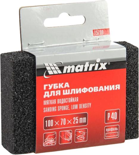 Шлифовальная губка Matrix (100 мм*70 мм*25 мм) средняя жесткость