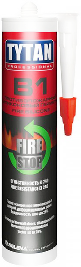 Титан Professional B1 Fire Stop Silicone силиконовый герметик огнестойкий
