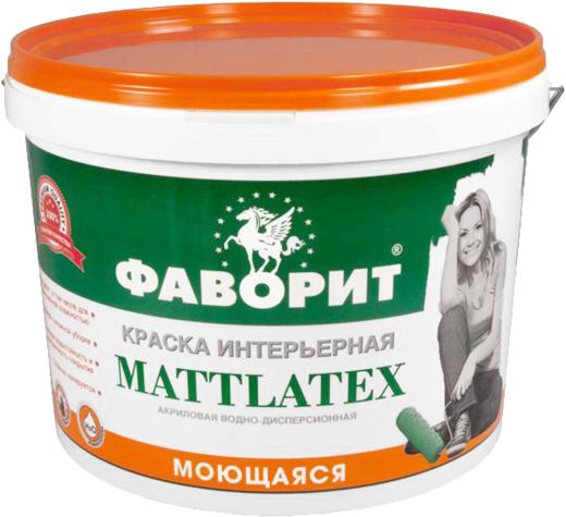Фаворит ВД-АК-20 ИС Mattlatex краска интерьерная акриловая водно-дисперсионная моющаяся (15 кг) белоснежная