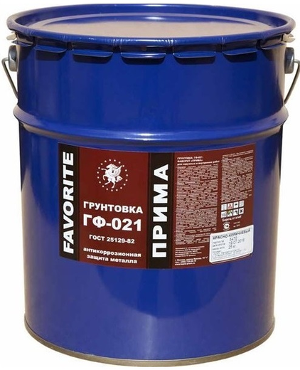 Фаворит ГФ-021 Прима грунтовка антикоррозионная защита металла (25 кг) серая