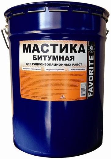 Фаворит мастика битумная для гидроизоляционных работ (20 л)