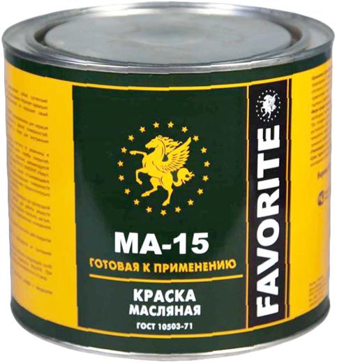 Фаворит МА-15 краска масляная (25 кг) сурик