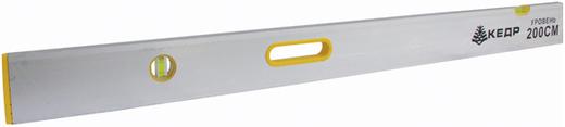 Правило-уровень Кедр (2 м) прямоугольный алюминий