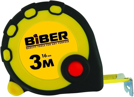 Рулетка Бибер Standart (5*25 мм) обрезиненный пластик