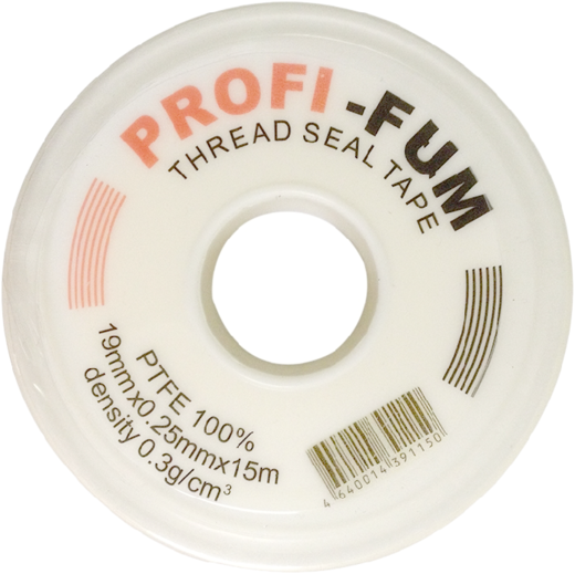 Фум лента Profi-Fum Профи (19 мм*15 м/0.25 мм) белая