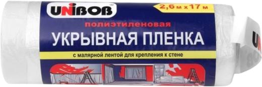 Пленка укрывная с малярной лентой Unibob (10 мкм*1.8*33 м)