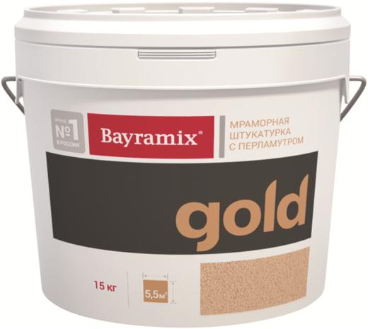 Bayramix Mineral Gold мраморная штукатурка с перламутром