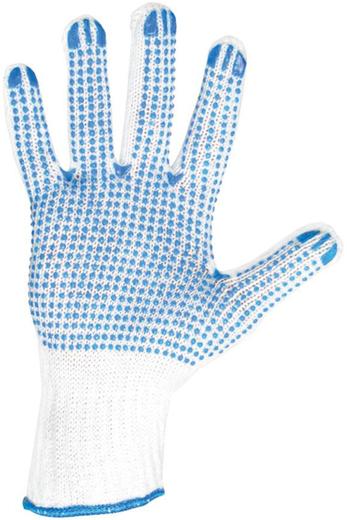 Перчатки вязаные трикотаж поливинилхлорид 5 ниток, 10 класс вязки белые