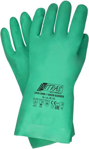 Перчатки Nitras Green Barrier