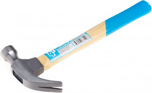 Молоток-гвоздодер T4P (450 г) кованая сталь дерево