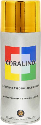 Coralino акриловая аэрозольная краска металлик (520 мл) яркое золото металлик