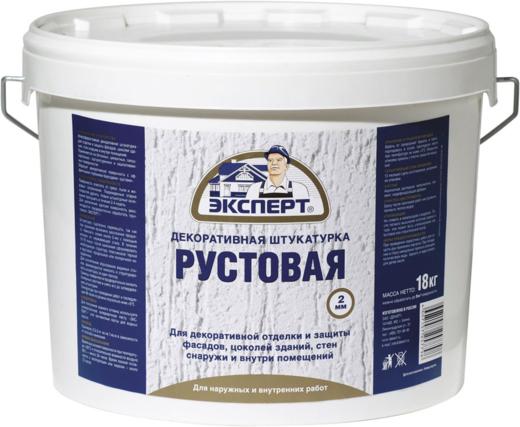 Эксперт рустовая акриловая структурная штукатурка (18 кг)