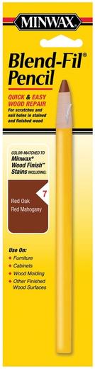 Minwax Blend-Fil Pencil карандаш для легкой подкраски и ремонта царапин и отверстий (36 г блистер) белый