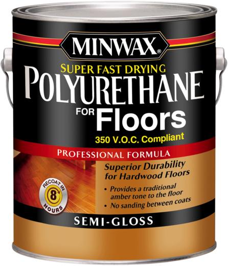 Minwax Super Fast Drying Polyurethane for Floors сверхбыстросохнущий полиуретановый лак для полов