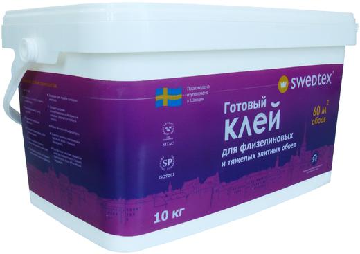 Swedtex готовый клей для флизелиновых и тяжелых элитных обоев (10 кг)