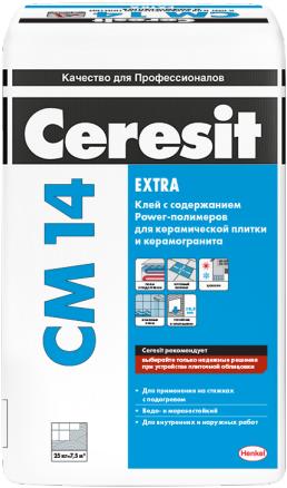 Ceresit CM 14 Extra клей для керамической плитки и керамогранита (25 кг)