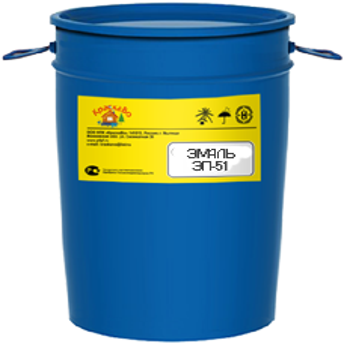 КраскаВо ЭП-51 эмаль (20 кг) красная гладкая