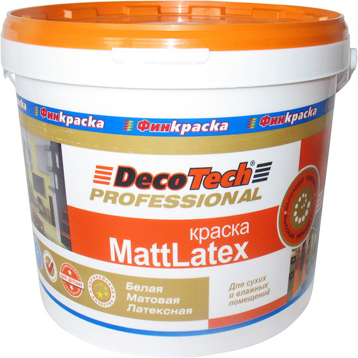 Decotech Professional Mattlatex краска акрилатная (10 л) белая