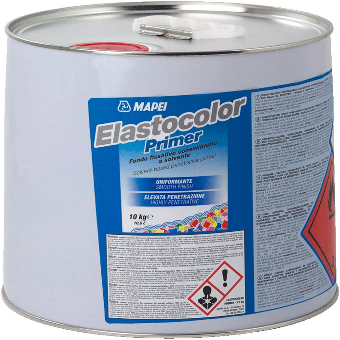 Mapei Elastocolor Primer проникающая грунтовка на основе растворителей (10 кг)