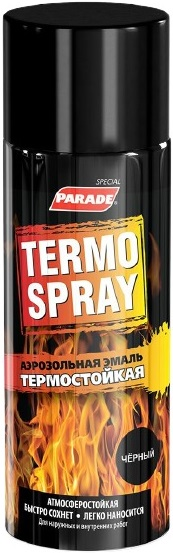 Parade Termo Spray аэрозольная эмаль термостойкая (520 мл) белая