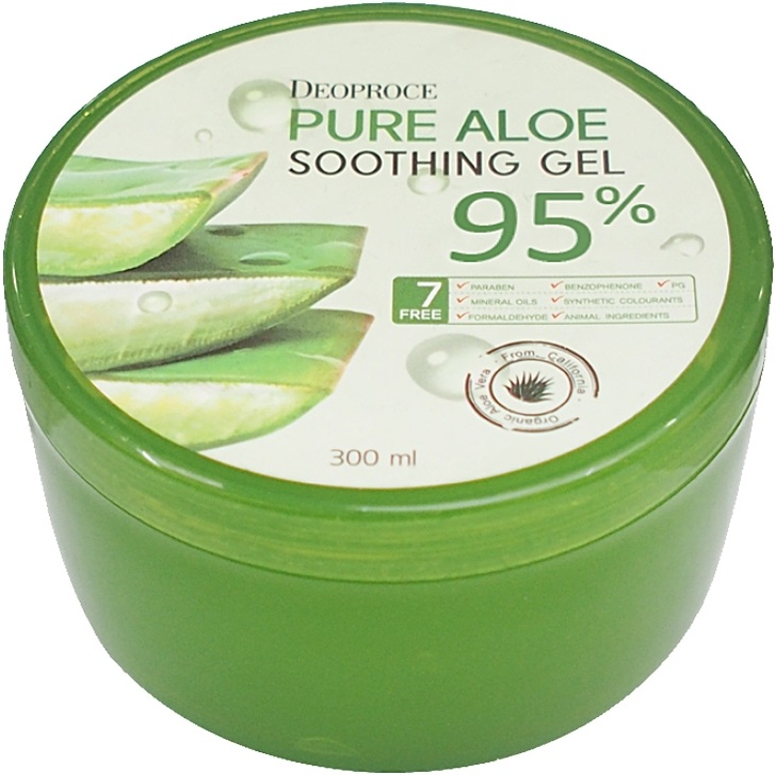 Deoproce Pure Aloe Soothing Gel 95% гель для лица и тела с алоэ (300 мл)